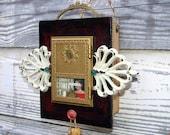 treasure box assemblage -- functional mixed media art piece