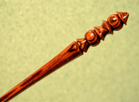 """Shawl Pin in Exotic Cocobolo Wood - 4"""" Rosewood - Handmade by Joshua Andra - or Mini Hairpin hair stick"""