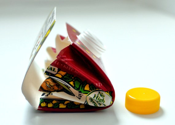 15 % Off Sale Recycled Wallet- Made from Pomegranate Lemonade Juice Carton