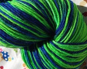 CLEARANCE Lime Splash - Hand Painted Wool Sock Yarn