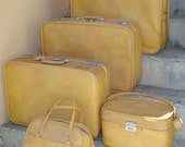 Vintage Skyway Luggage Matched Set of 5 Pieces
