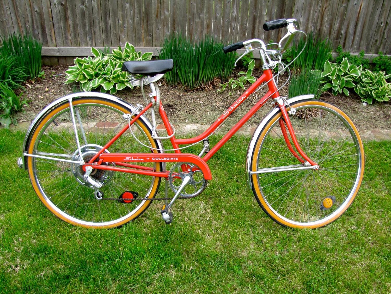 Vintage Red 1970s Schwinn Bicycle