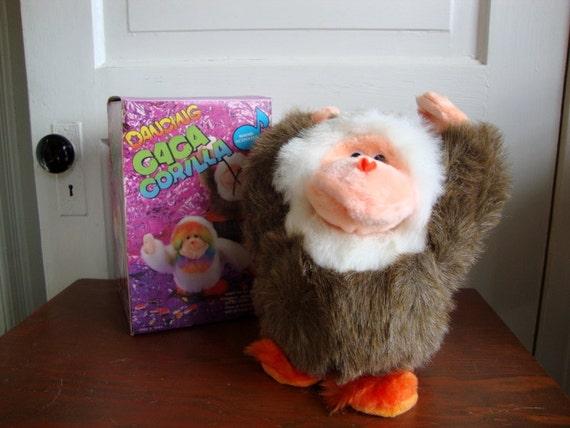 Vintage 80s Dancing Gorilla NIB Sound Activated GaGa Gorilla