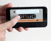 Cassette Tape iPhone 4 Skin - Style C