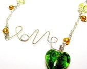 25% OFF Green Love Necklace