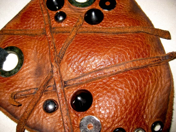 Leather Studded Junk Guard