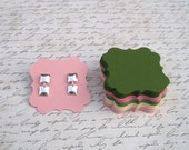 25 - 2x2 Post Earring Cards - PICK YOUR COLORS
