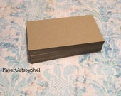 50 - BLANK  Kraft Business Cards - Earring Cards - Eco Friendly - DIY - Premium 80lb paper  3.5 inch x 2 inch