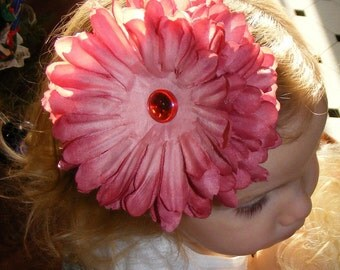 """Boutique Baby Hair Flower Alligator Clip - Clippie with Baby Bling - 5"""" - Headband Not Included - READY TO SHIP"""