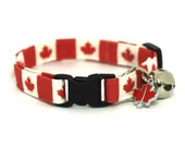 Canadian Cat Collar Maple Leaves
