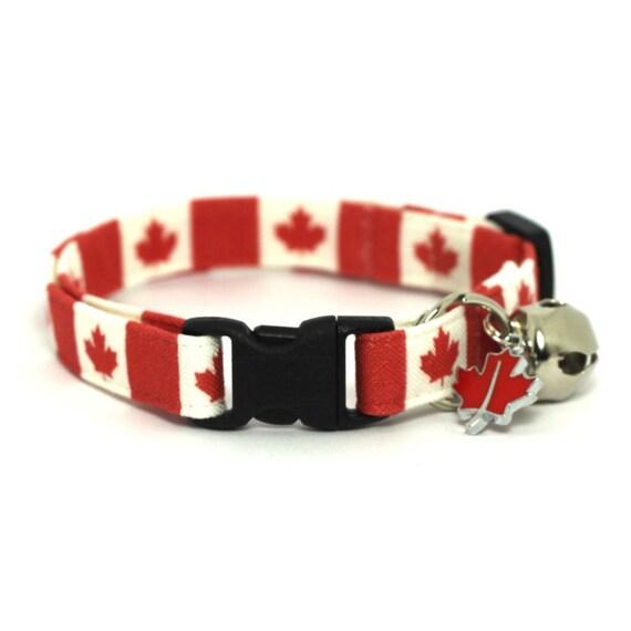 Canadian Cat Collar Maple Leaves