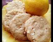 VEGAN White Chocolate Lemon Cookies