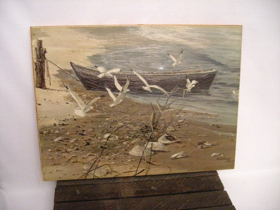 Print ...nautical.....Cottage Chic ....Beach Scene famous artist Carolyn Blish