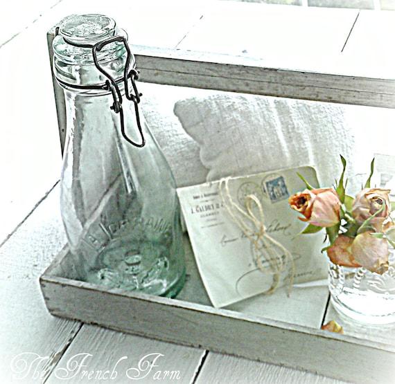 French Farmhouse LA LORRAINE Bottle / Jar Thistle Design - TREASURY Item -