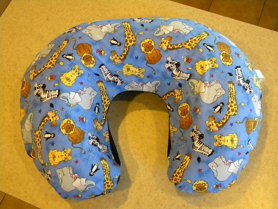 Animal Nursing Pillow : Baby Zoo Animals Nursing Pillow Cover with Toy by PlainJaneB2B