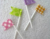 Cupcake Topper - Flags (Set of 12)