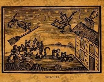Halloween Witches Instant DownloadTransfer Sheet
