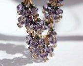 bib style crystal cluster necklace