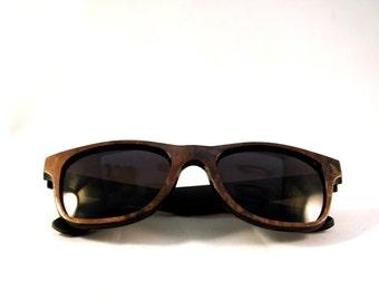 Handcrafted Wooden Faced Sunglasses Wayfarer // WALNUT  Eyewear