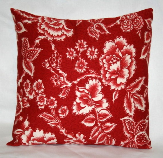 SALE 2 Cherry Red Pillow Covers18 inch