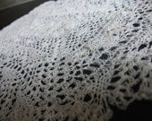 Vintage rectangular lace crochet doily