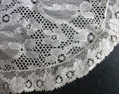 Reserved for Teresa Doula Vintage oval ivory lace crochet doily approx 22cm x 16cm