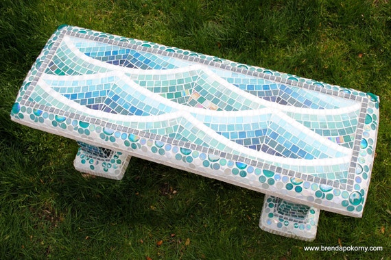 Reserve Listing for Beatrice  Low Tide Mosaic Bench