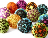 Bright Medallion Pushpins  / Magnet /  Pushpin / Thumb Tacks /  Fabric Covered Buttons / Moroccan / Circles / Pretty Office