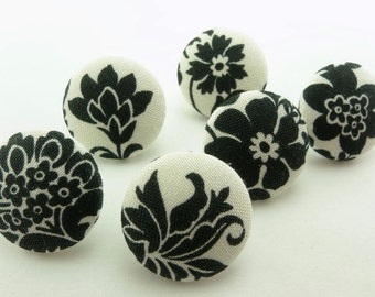 Distinct Black Flowers Office  / Thumbtacks Flowers /  Seating Chart / Memory Board / Covered Button / Pushpin /  Tacks On White  152