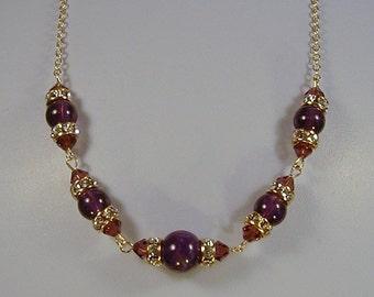SALE Genuine Amythest Necklace