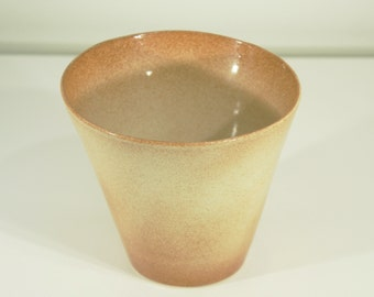 Ceramic Vase, Europa Moon, Shino Glaze, Handmade, Pottery Wheel, Ornamental Vessel, Home Decor, MJS, 71