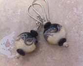 Borosilicate Bead and Sterling Silver Earrings