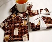 Caffe' n Coffee Coasters set of 6