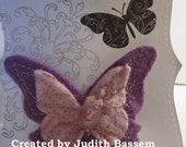 Embroidered Felt Butterfly Clip