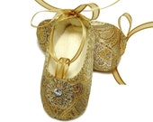 The Giselle in brocade ballerina shoe/slipper/bootie Copyrighted 2010