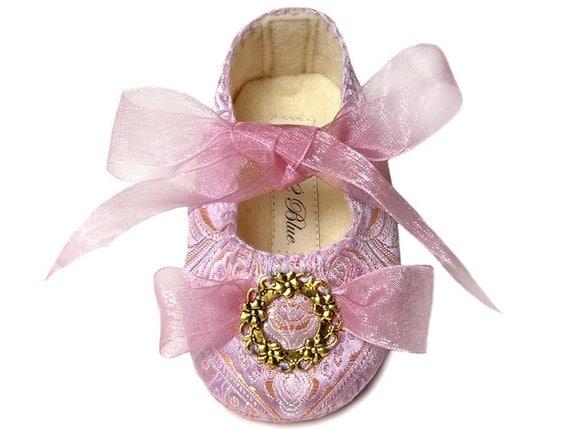 Gabriella Princess Baby Girl Shoe/Slipper/Bootie, Toddler, Pre School sizes, by Pink2Blue.
