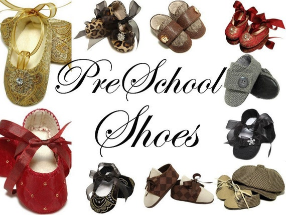 Pre-School Shoes, Slipper, Booties, Sizes 11-13, Handmade by Pink 2 Blue
