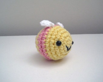 Little Pink Bee-Amigurumi Bee