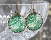 New Zealand Stamp Earrings - Fantail