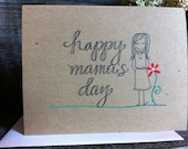Happy Mama's Day - Mother's Day - Paper Goods - Blank Notecard - Handmade card - Bible Verse
