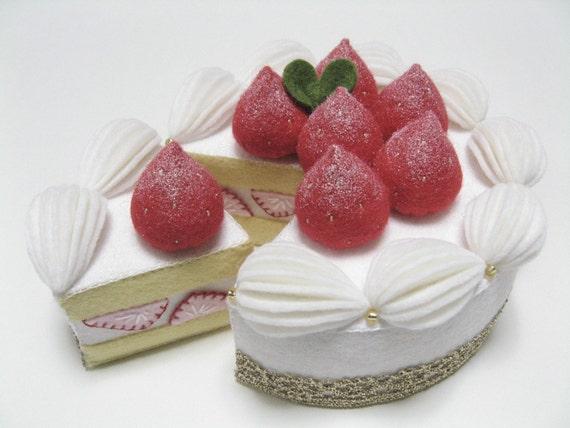 Felt Food Toys R Us : Items similar to felt food white cake pretend play
