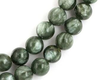 Seraphinite Beads - 6mm Round