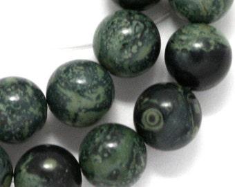 Kambaba Jasper Beads - 12mm Round - Half Strand