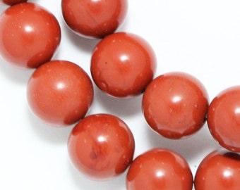 Red Jasper Beads - 10mm Round