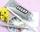 E6000 - 3.7 Ounce Tube(110ML) - Jewelry, Craft, Glass Adhesive - Glass -multi-function glue (((glue head )))set