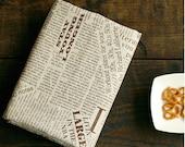 Cotton Linen Fabric Cloth -DIY Cloth Art Manual Cloth -Newspaper In English 29x 19Inches