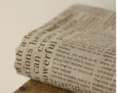 On Sale - Cotton Linen Fabric Cloth -DIY Cloth Art Manual Cloth -Newspaper In English 58x19 Inches