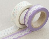 2 Rolls Beautiful Multi-Function Adornment Masking Tape Washi tape