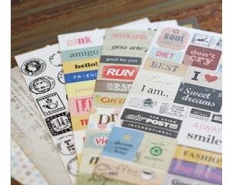 Ponybrown restore ancient ways postmark letters adornment sticke