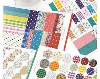 4 Sheets Korea Pretty Sticker Set - Colorful Paper Sticker Set